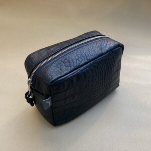 MAKE-UP BAG BLACK CROCO