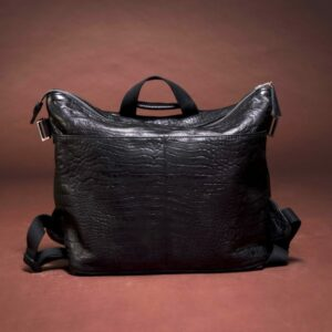 diaperbag black croco