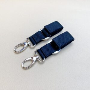 STROLLER CLIPS BLUE/NICKEL