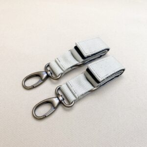 STROLLER CLIPS BEIGE-NICKEL